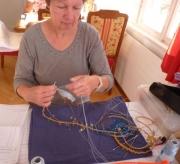 Irena Baumann hochkonzentriert
