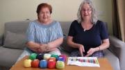 """Pia Lenhard und ich während der Videoproduktion für """"Farbenhoroskop"""""""