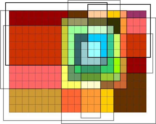 """Gestaltungsskizze für Paul-Klee-Inspirations-Kurs von Gabriele Kluge, inspiriert von Paul Klees """"Polyphon gefasstes Weiss"""""""
