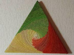 """Dreieck-Bild von Gabriele Tippel """"Farbenwirbel"""""""