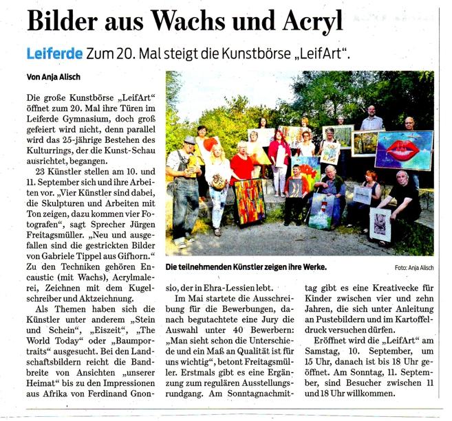 Braunschweiger Zeitung vom 23.8.2016