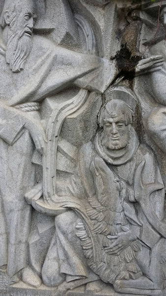 Relief an der Elisabethquelle in Bad Gastein